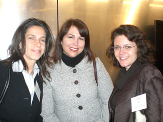 Susan Valentini, Jeanine Boffa, and Dora Chomiak of The McGraw-Hill Companies posed at the opening cocktail hour.