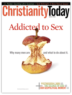 "... surrounding the bold, red words ""Christianity,"" ""Addicted"" and ""Sex."""