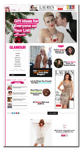 Glamour Com Sees Social Focused Redesign Folio