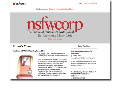 Content Subscription Site NSFW Corp. Expanding into Print