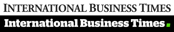 The old (above) and new (below) logos for International Business Times