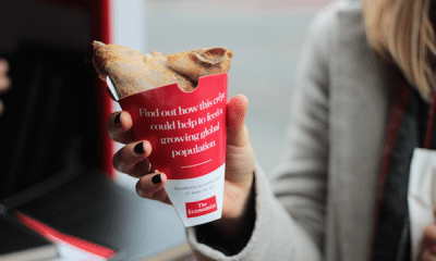 As part of an experiential marketing campaign, The Economist served free insect crepes to Londoners.