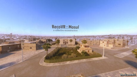 An image from The Economist's VR story on Mosul, Iraq.