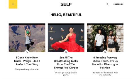 SELF - homepage beauty