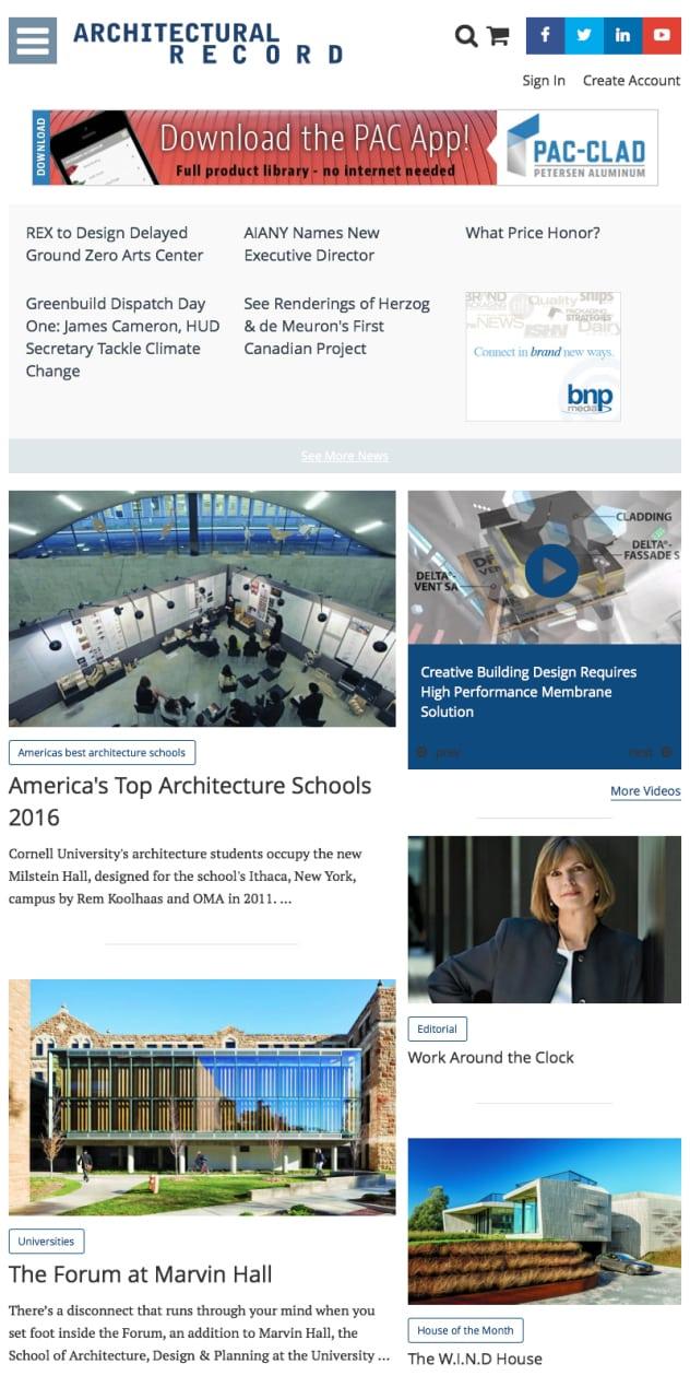 ARCHITECTURAL RECORD_B2B_Website