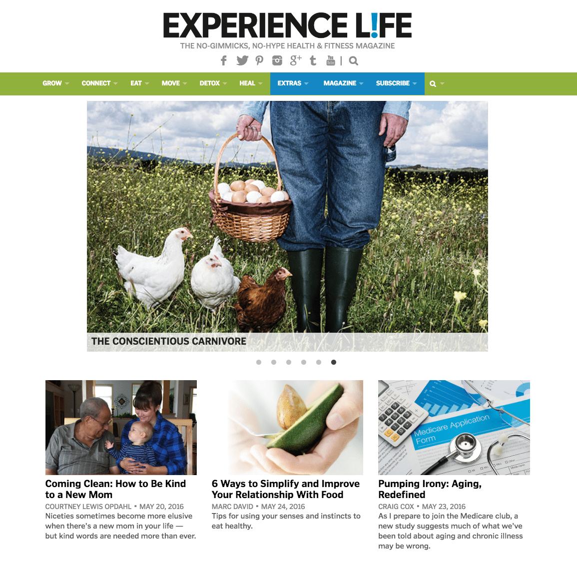 EXPERIENCE LIFE_Consumer_Website
