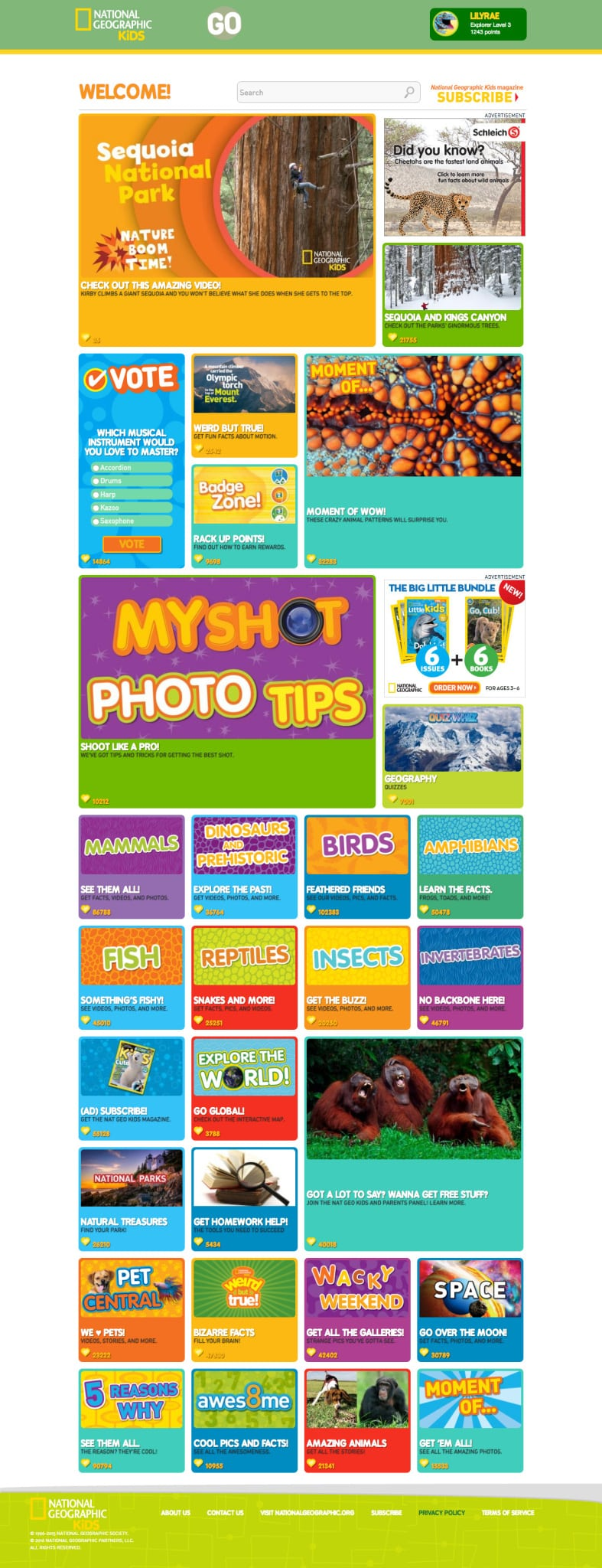 NATIONAL GEOGRAPHIC KIDS_Consumer_Website