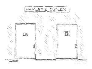 robert-mankoff-hamlet-s-duplex-scene-in-a-hallway-with-two-apartment-doors-2-b-and-new-yorker-cartoon