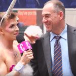 Unicorn interviews man