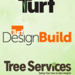 Turf Magazine, Turf DesignBuild, Tree Services Logos