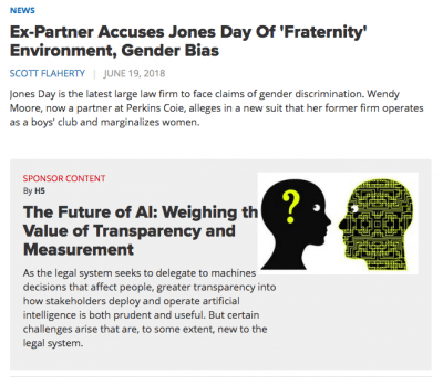 Sponsored content as it appears in the feed of ALM's The American Lawyer.