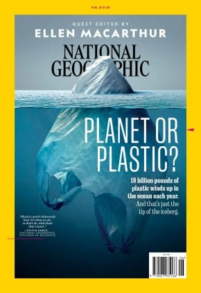This National Geographic cover beautifully illustrates the damag
