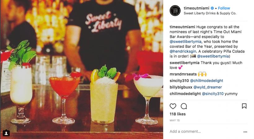 Time Out Bar Awards - Social Media