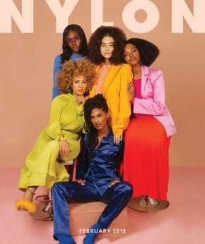 Nylon's February 2018 Black History Month digital issue cover