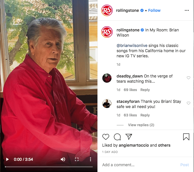 Rolling Stone Launches IGTV Concert Series In Response to COVID-19