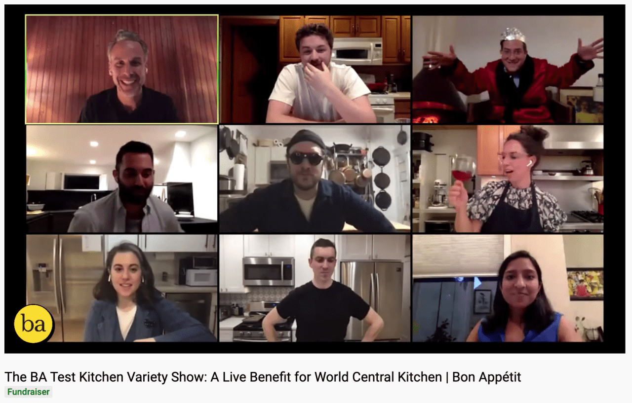 Bon Appetit Variety Show Raises 200k For Charity And Thousands Of New Subscribers Folio
